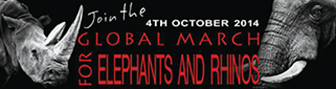 Global March for Elephants and Rhinos logo